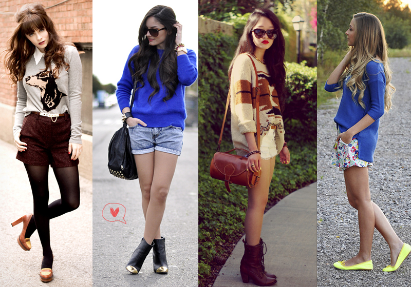 sweater e short