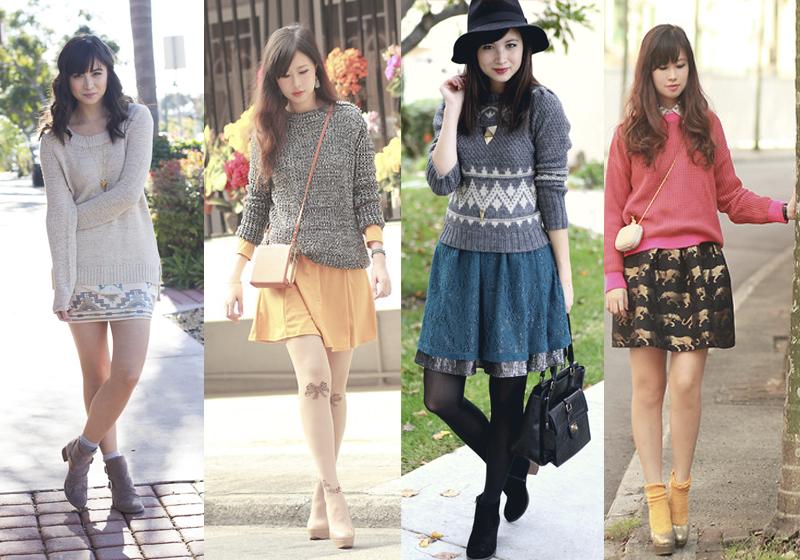 sweater e vestido